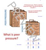 Red Ribbon Week Peer Pressure Powerpoint TicTacToe game +