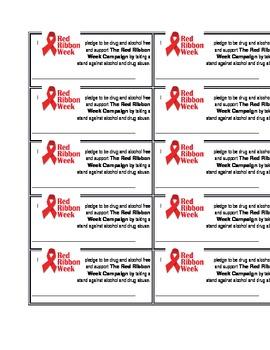 Red Ribbon Week Pledge Cards