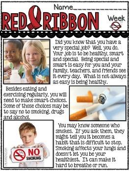 Red Ribbon Week Reader and Activities