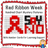 Red Ribbon Week (Say No to Drugs) Hundred Chart Mystery Pictures