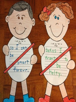 Red Ribbon Week Say No to Drugs Writing Craftivity