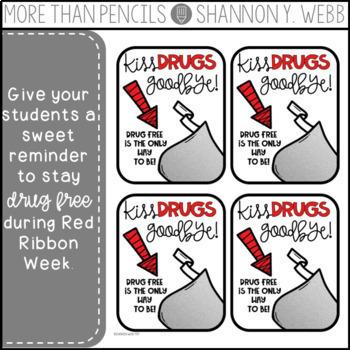 Red Ribbon Week Treat Tag FREEBIE