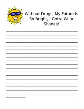 Red Ribbon Week Writing Prompt Stationery