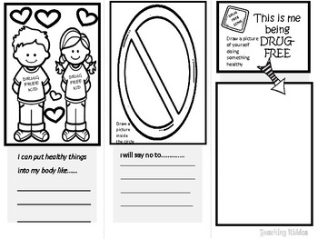 Red Ribbon Week booklet trifold for class or PTA (PTO )