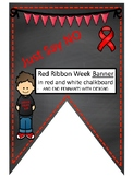 Red Ribbon Week pennant- Just Say NO for class or PTA