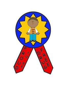 Red Ribbon WeekDrug Prevention Badge