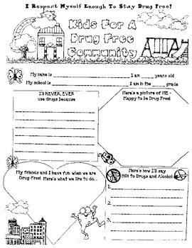 Red Ribbon Week:Kids for a Drug-Free Community Poster