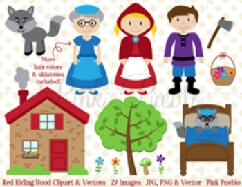 Red Riding Hood Clipart Clip Art, Little Red Riding Hood Fairytale Clipart