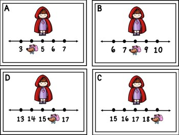 Red Riding Hood Missing Numbers 1-20