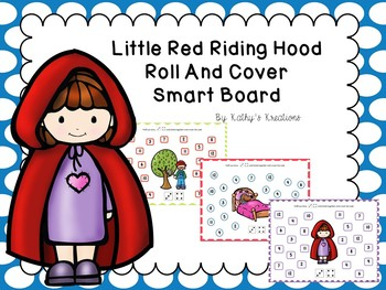 Red Riding Hood Roll And Cover For Smart Board With Paper Copies