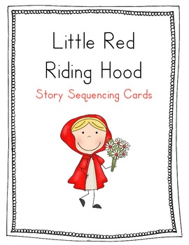 graphic about Little Red Riding Hood Story Printable known as Crimson Using Hood Sequencing Playing cards
