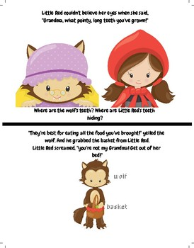 Red Riding Hood Story & Theater and Busy Folder Dramatic Play