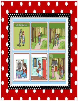 Red Riding Hood reading, comprehension, sequencing, story elements, puppets
