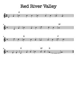 Red River Valley Recorder Solo, Duet, & Trio Ensemble Piece!