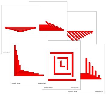 Red Rods - Pattern Cards