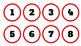 Red/Rojo Classroom Numbers/Calendar
