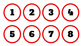 Red/Rojo Classroom Numbers/Calendar