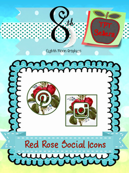 Red Rose Social Icons