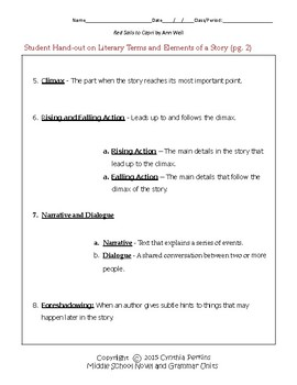 Red Sails to Capri Complete Literature and Grammar Unit