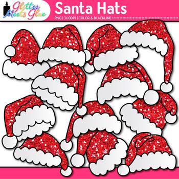 Red Santa Hat Clip Art: Christmas Graphics {Glitter Meets Glue} 2