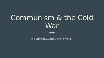 Red Scare & Causes of Korean War PowerPoint