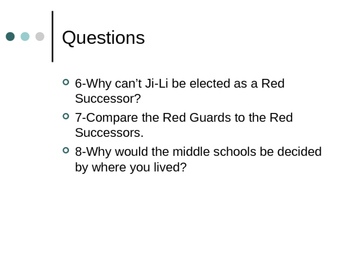 Red Scarf Girl Questions and Vocabulary