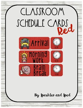 Red Schedule Cards