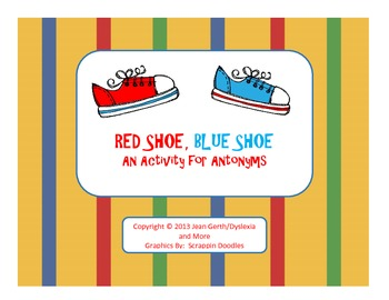 Red Shoe, Blue Shoe - An Activity for Antonyms