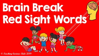 Red Sight Word Brain Break