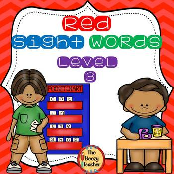 Red Sight Words Level 3