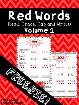Red/Sight Words Spelling Review FREEBIE!