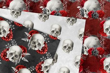 Red Skull Digital Paper