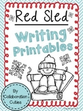 Red Sled Writing Printables
