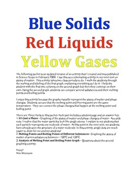 Red Solids, Blue Liquids and Yellow Gases