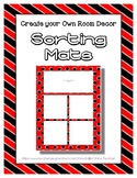 Red Sorting Mat Frames * Create Your Own Dream Classroom /