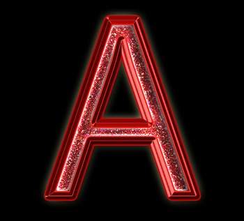 Alphabet Clip Art Red Sparkle & Shine , Punctuation, Math Symbols & Numerals