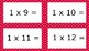 Red Spotty Times Tables Flash Cards