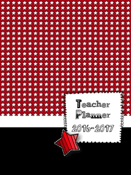 Red Starry Teacher Lesson Planbook