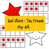 Red Stars Ten Frames - Stelline rosse analogiche