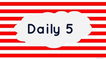 Red Stripe and Navy Daily 5, Math, and Reading Focus Wall Banners