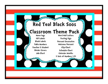 Red Teal Black Soos Mega Theme Set