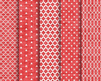 Red Textured Christmas Papers, Red, Textured, Christmas, Set #233