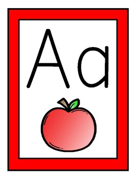 Red Theme Alphabet Posters
