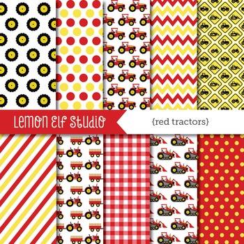 Red Tractors-Digital Paper (LES.DP56A)