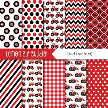 Red Tractors-Digital Paper (LES.DP56B)