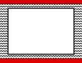 Red Trim Background w/ Frame