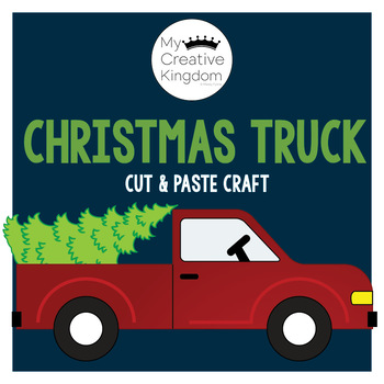 Red Truck and Christmas Tree Craft
