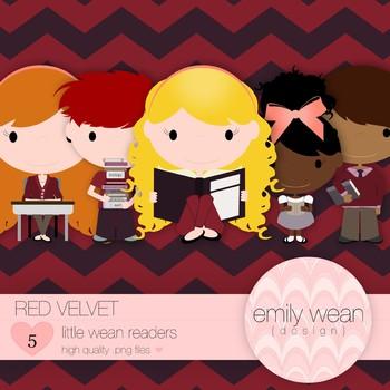 Red Velvet - Little Readers Clip Art