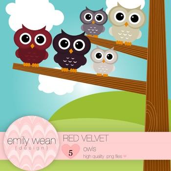 Red Velvet - Owl Clip Art