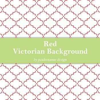 Red Victorian Pattern Background